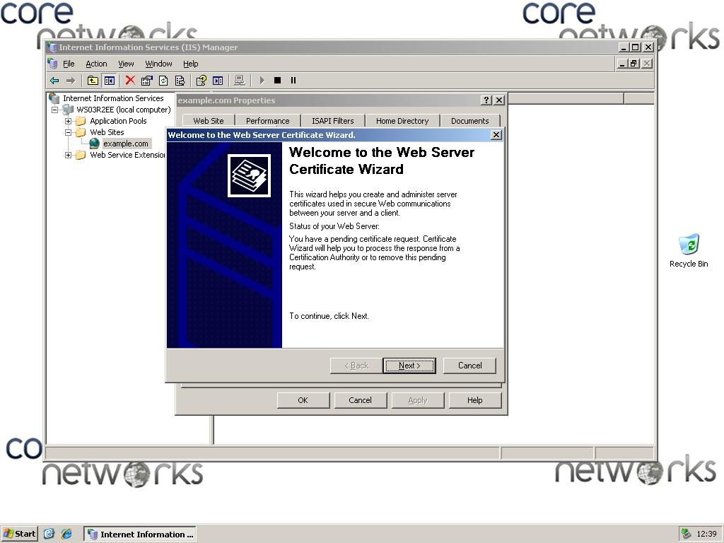 Faq Csr Zertifikatrequest Erstellen Windows Iis 6