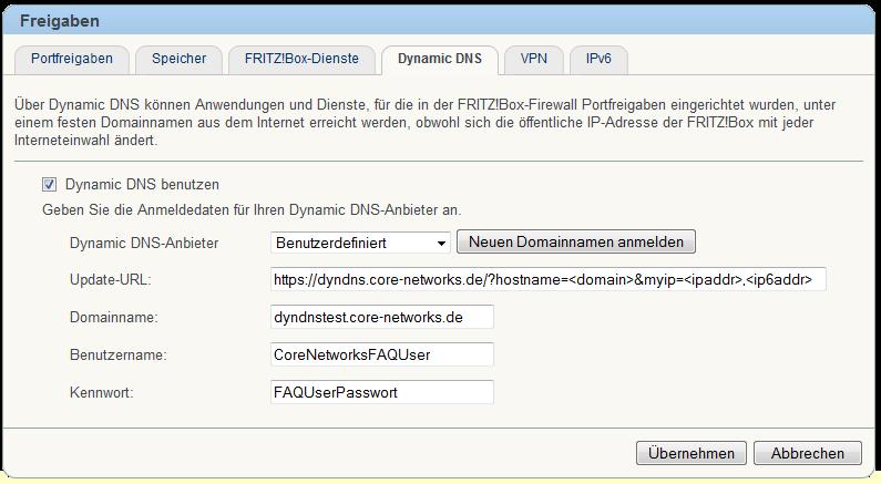 FAQ - Wie richte ich DynDNS auf der FRITZ!Box ein?